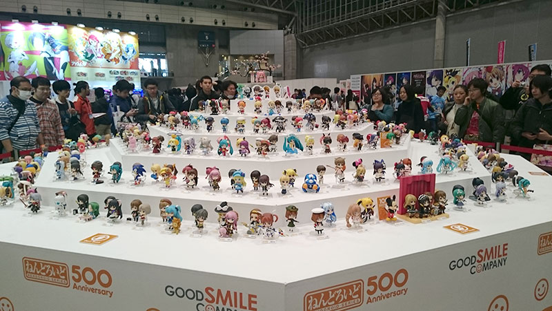 Goodsmile Company's Nendroid display, commemorating their 500th figure in the series, was rather impressive!